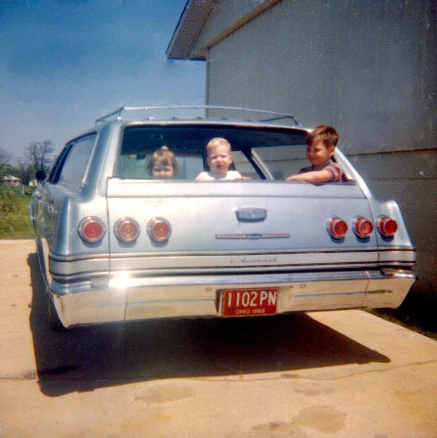 rose lane blue wagon and driveway '66 _1