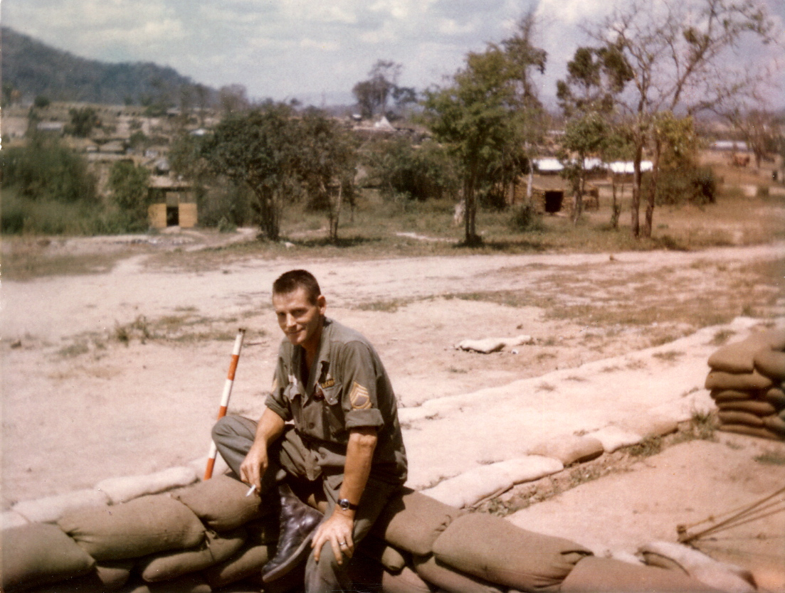 Dad On Sand Bags In 'Nam_1