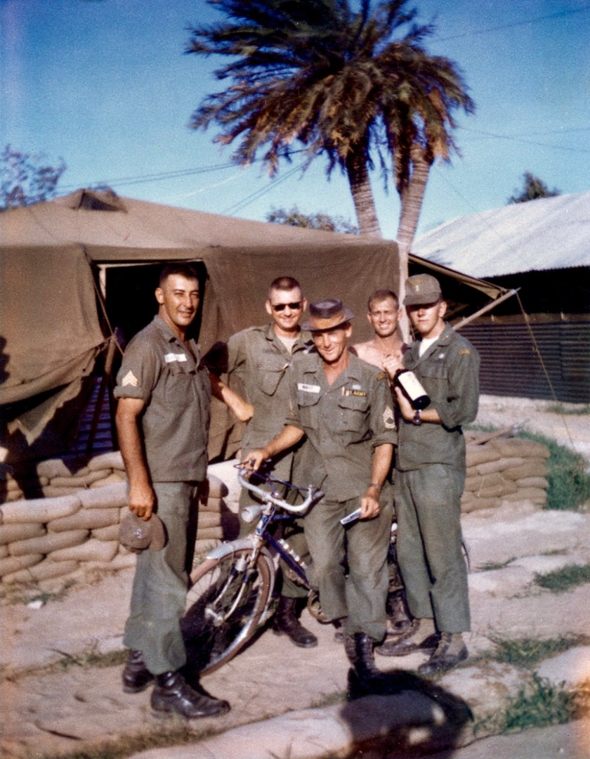 Dad in 'Nam w_ Bro's & Bike_1-2