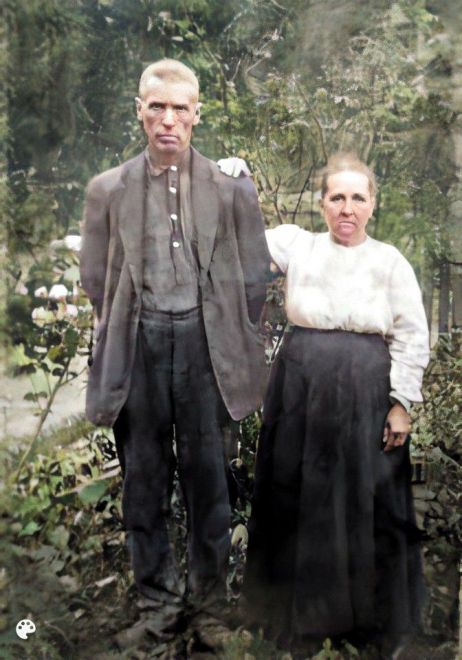 Jake and Corena Proffitt-Colorized