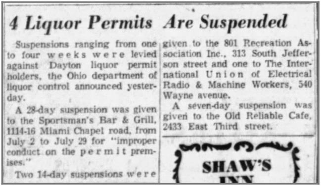 Sportsman Permit Suspended 20 Jun 1957